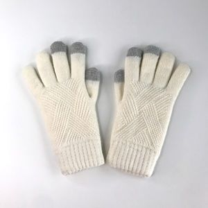 NEW Lined Knitted Digital Gloves  - Cream White